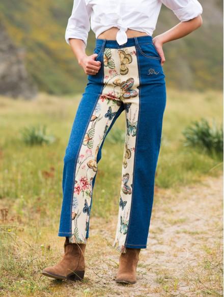 Pantalón vaquero Mariposas