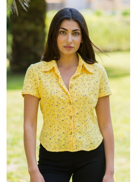 Camisa amarilla flores Galatea